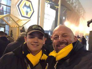 Jason O'Connor with his son Oscar at Molineux