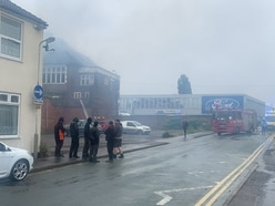 Fire rips through derelict Foresters Arms pub