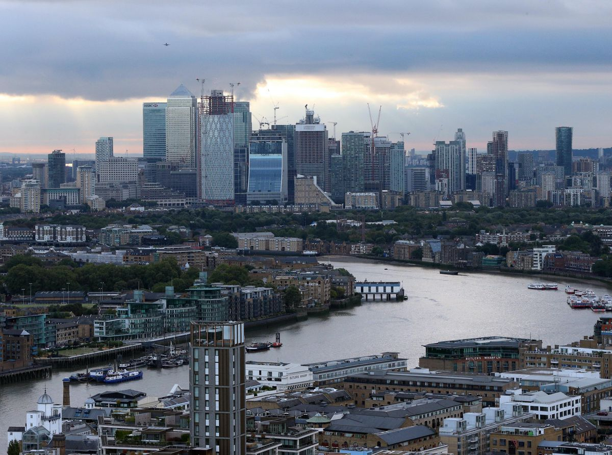 A view of Canary Wharf in the London Borough of Tower Hamlets