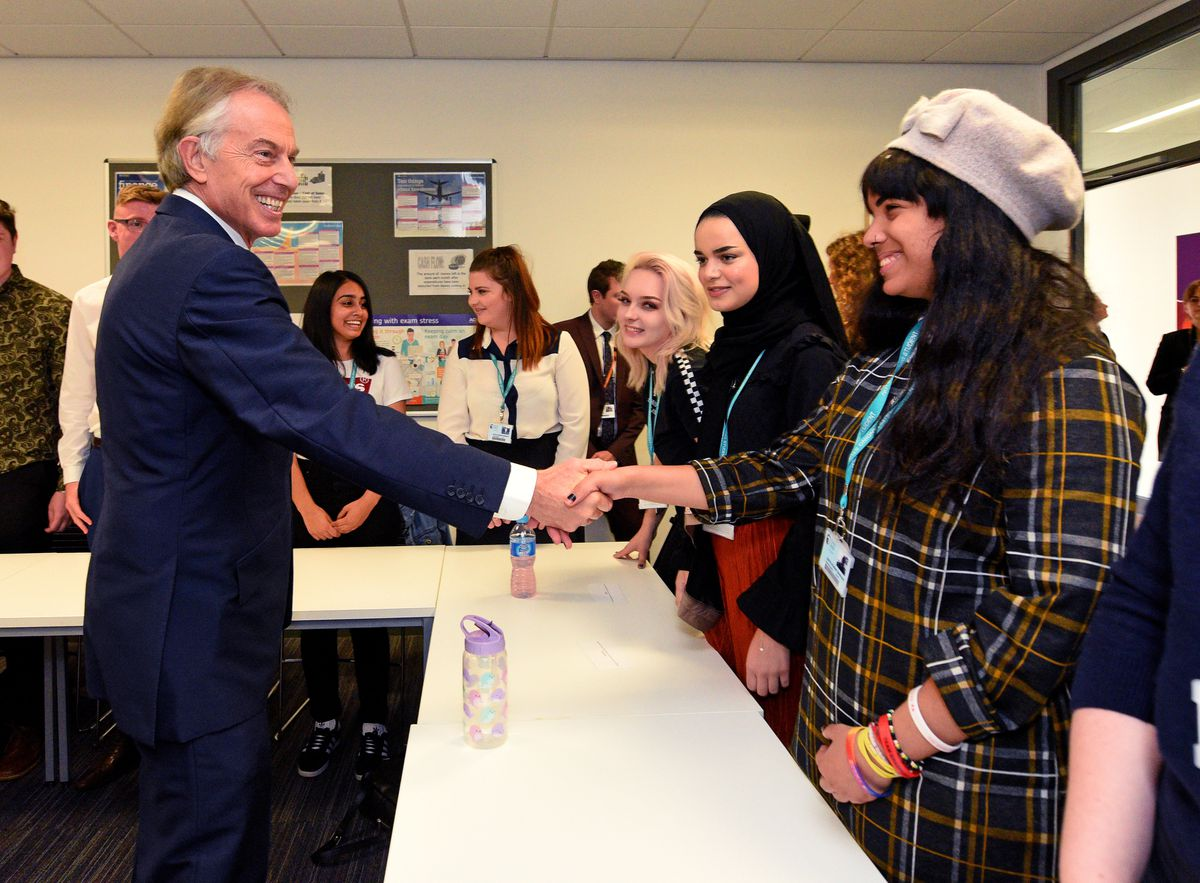 Mr Blair meeting Dudley College students