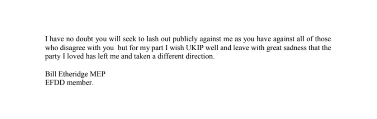 Part two of Bill Etheridge's resignation letter