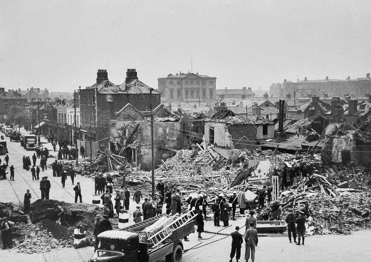 Devastation in Dublin in 1941.