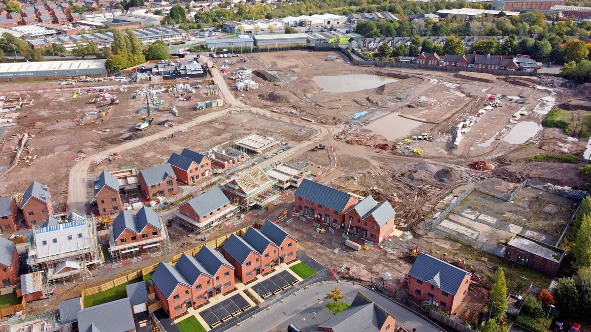 Work continuing on the estate at the Goodyear factory last year