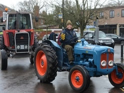 Chugging tractors take to Shropshire's country roads in aid of two charities