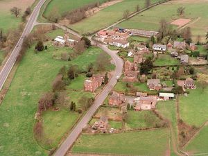 An aerial view of Tong as it looks today