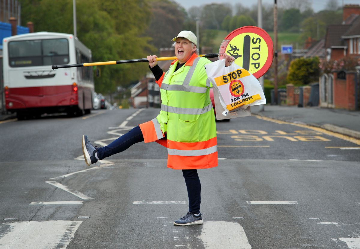 Lollipop lady Linda Kelly from Smethwick, who is retiring after 13 years