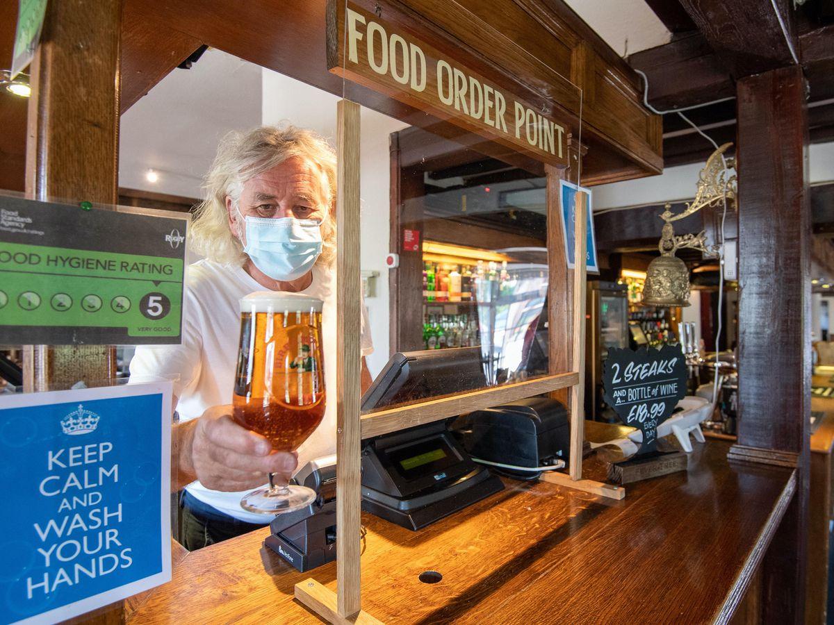 A pub preparing to welcome back customers