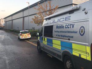 The scene in Wednesfield. Photo: Wednesfield Police