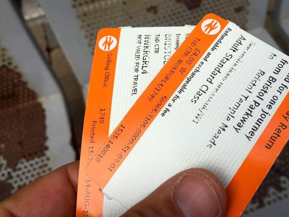 Rail ticket stock