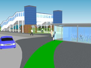 An artist's impression of what the new Willenhall Railway Station will look like. Photo: West Midlands Rail Executive.