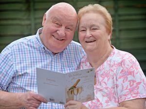 WOLVERHAMPTON  COPYRIGHT TIM STURGESS EXPRESS AND STAR...... 23/03/2021  John and Enid White from Bushbury, Wolverhampton , will celebrate their diamond wedding anniversary on March 25....