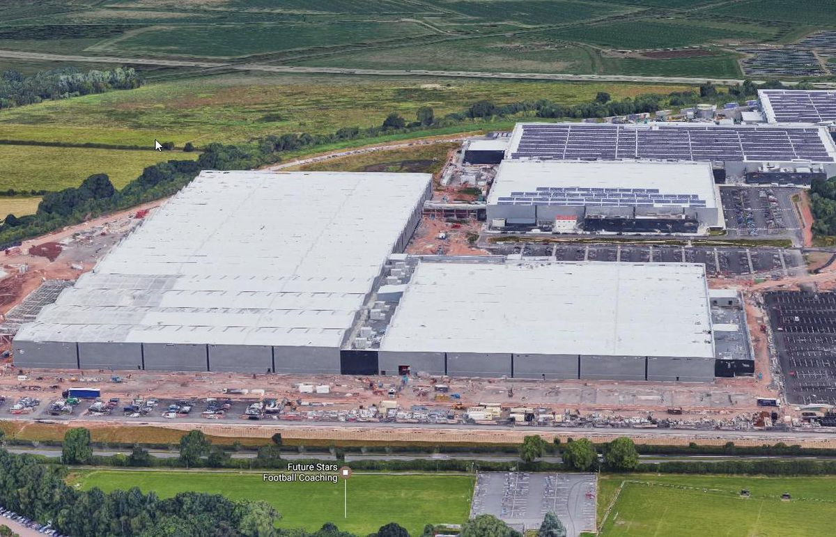 An aerial view of the i54 plant next to the M54 in Wolverhampton