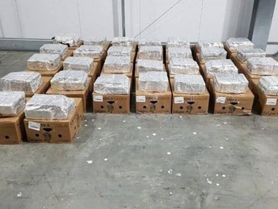 Cocaine worth up to £100 million seized in Dover