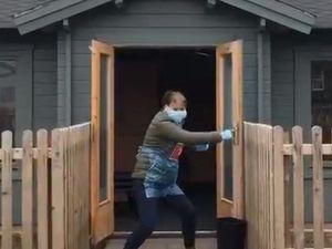 Staff fight coronavirus in their A Team video