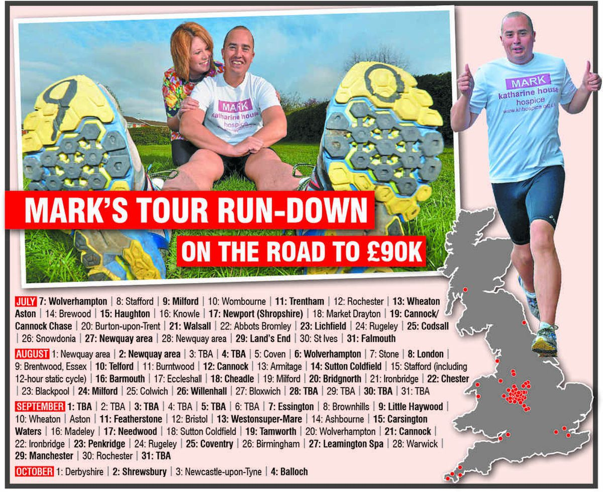 Heartache of six miscarriages spurs Mark on to 90 marathons in 90 days