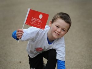 Carter Chatting, aged nine, raised £6,000 for Birmingham Children's Hospital by completing a 10k run