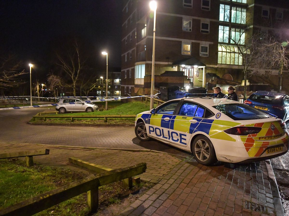A man was stabbed during a carjacking outside high-rise flats in Brierley Hill. Photo: SnapperSK