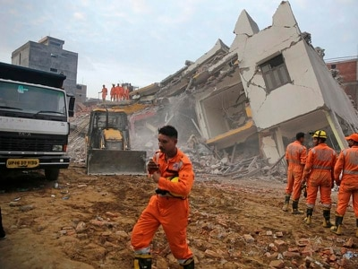 Three killed as building collapses into another near New Delhi