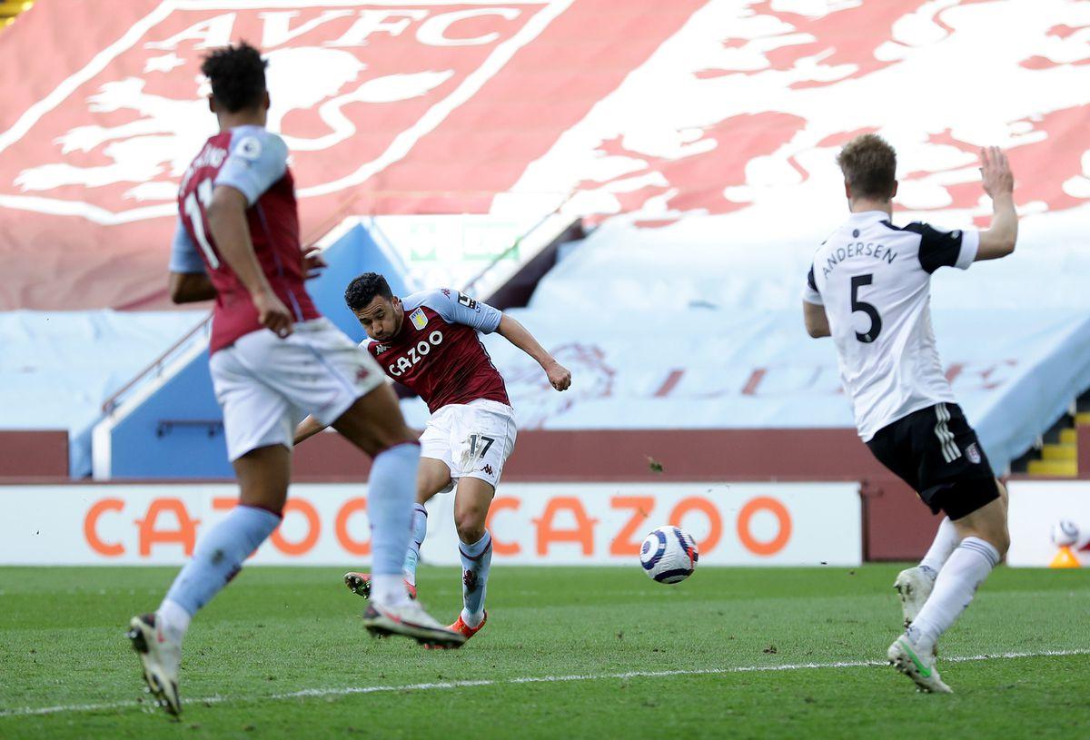 Aston Villa's Trezeguet scores