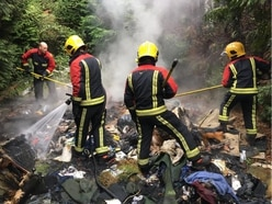 Fire spreads to back garden fence after rubbish set alight
