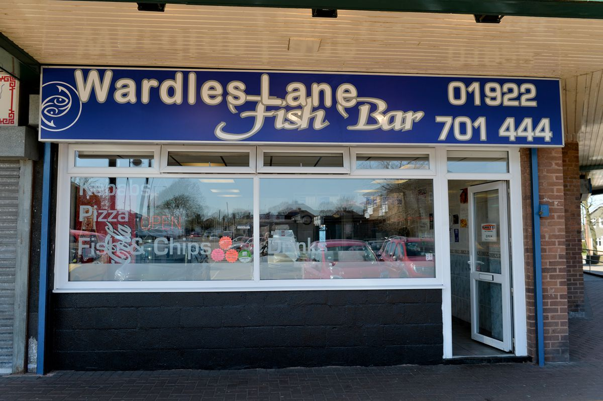 Wardles Lane Fish bar , Great Wyrley. came third in chipshop of the year