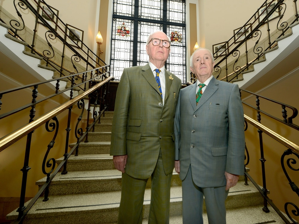 Turner Prize-winning artists Gilbert and George visit Wolverhampton and Walsall - with video