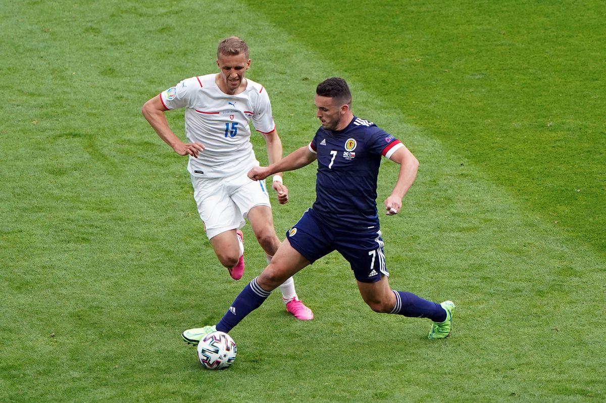 Czech Republic's Tomas Soucek (left) and Scotland's John McGinn