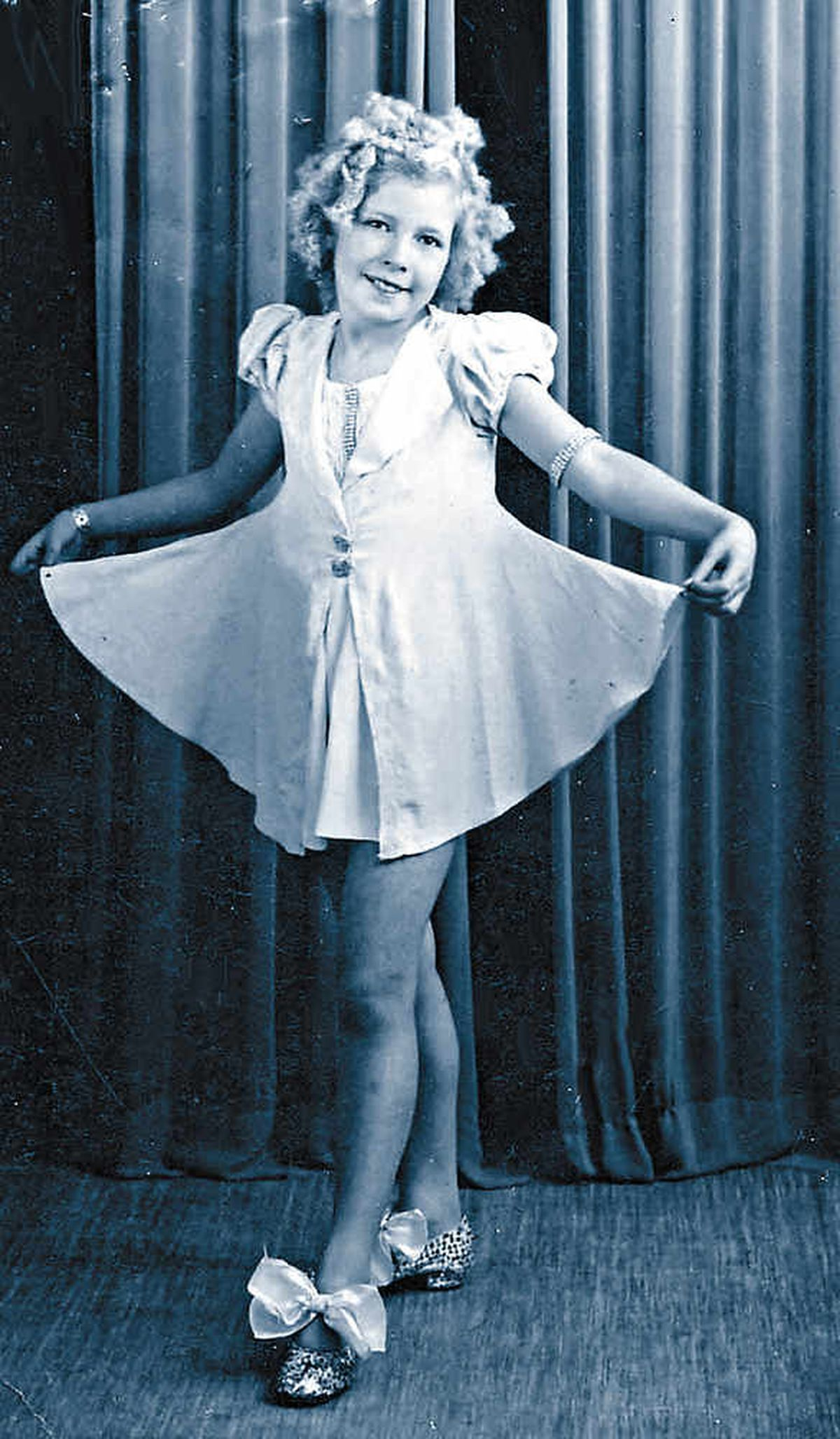 Sheila as Shirley Temple while performing her West Midlands-based dance show