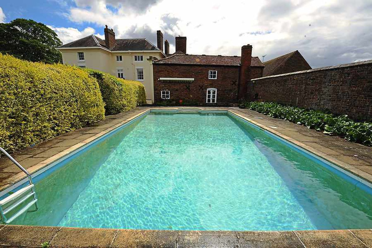 Fancy a dip? The impressive swimming pool at Eardington Manor