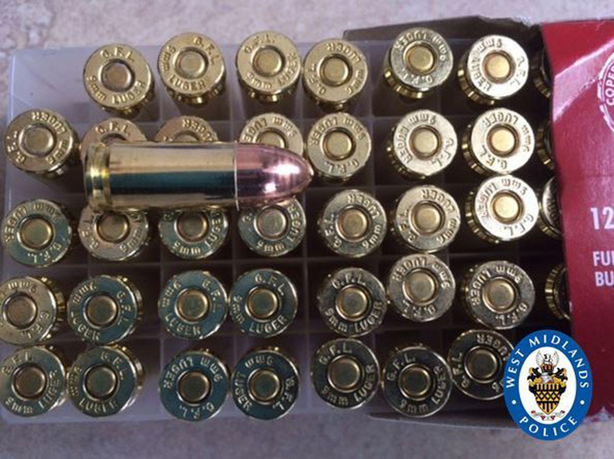 Live ammunition found in the rucksack thrown by Finelli