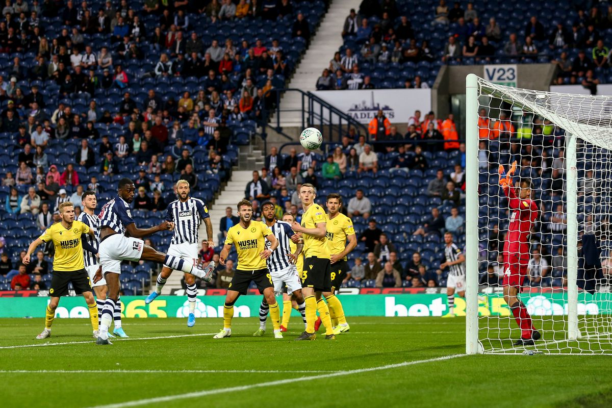 Semi Ajayi of West Bromwich Albion scores a goal which is ruled out for a foul. (AMA)