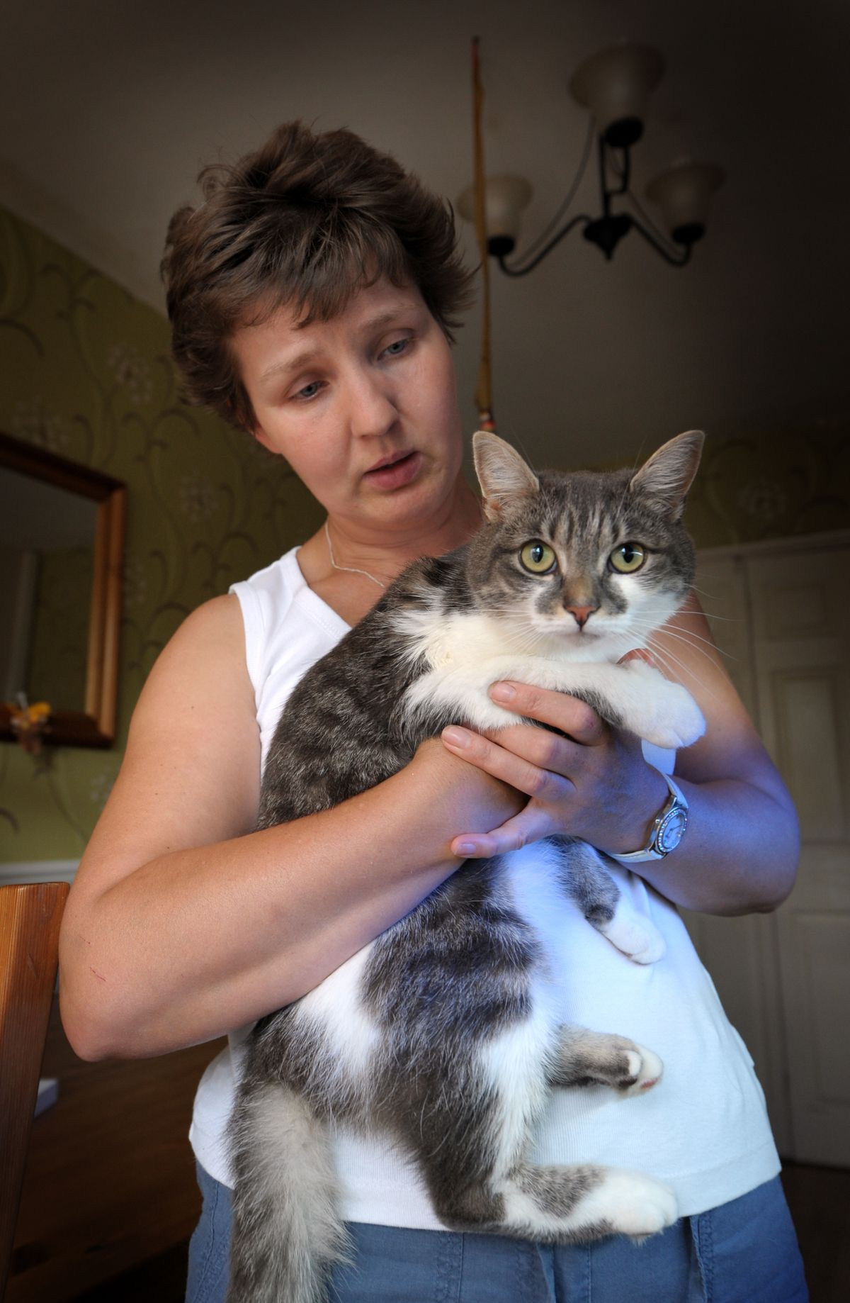 Sally Edwards from Ashmore Park, Wednesfield, pictured with her cat Smokey back in 2010