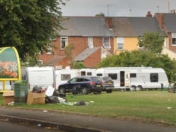 Traveller camp has been on Dudley park for 11 days