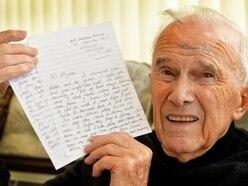 Glyne's poignant last letter from Gordon Banks