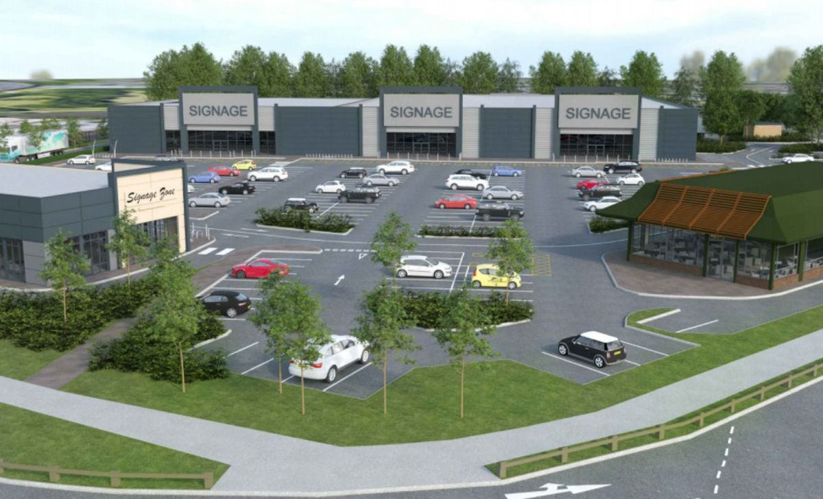 CGI of the retail park which will occupy the former Toys 'R' Us store in Oldbury. Photo: Sandwell Council