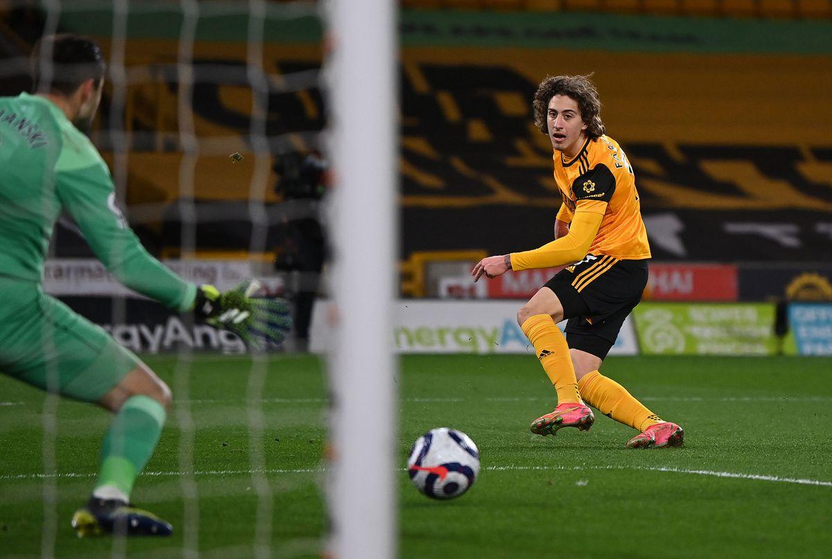 Wolverhampton Wanderers' Fabio Silva scores (PA)