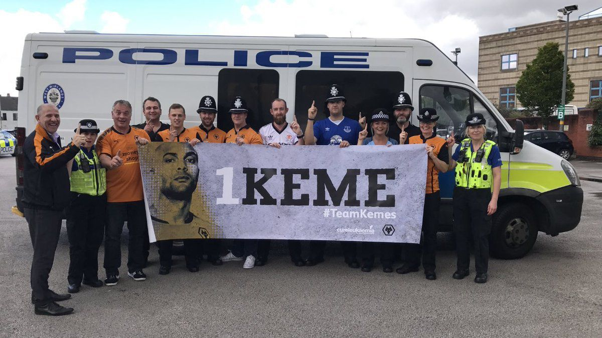 Wolverhampton police officers show their support