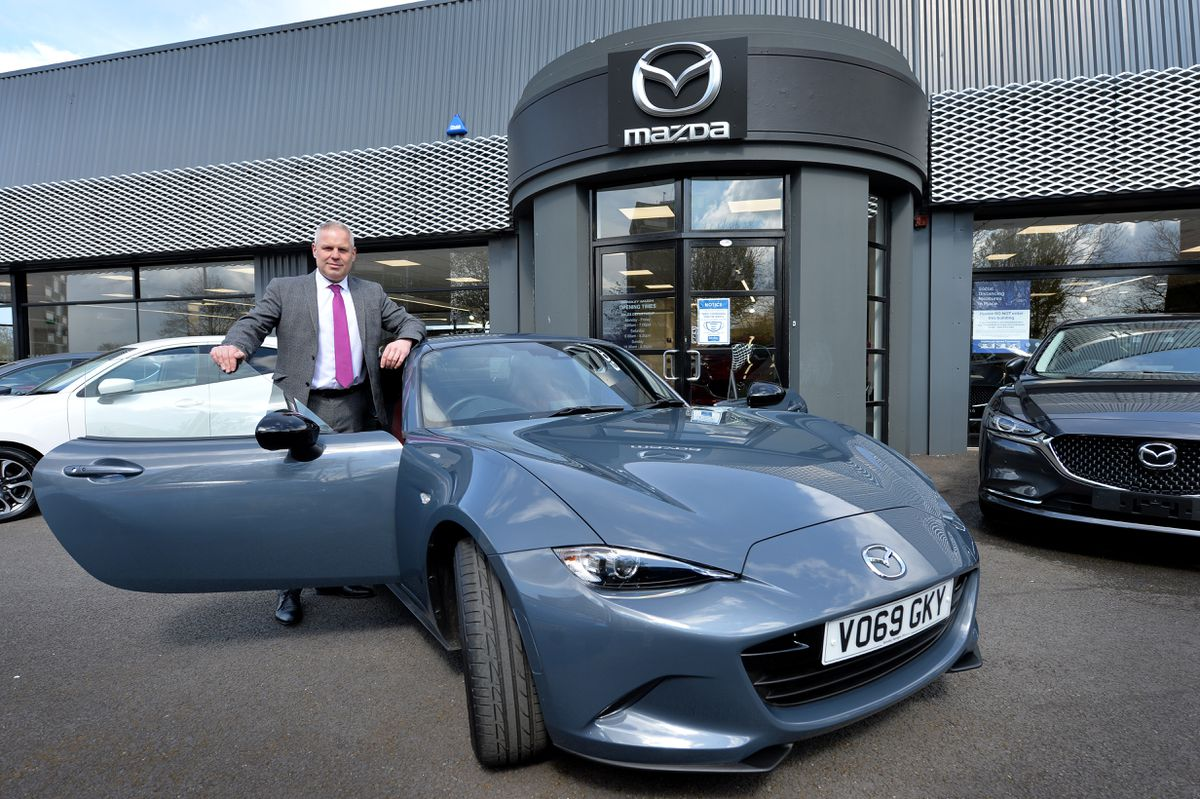 General manager Jason Devey with the Mazda