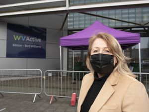 Councillor Linda Leach, cabinet member for adults, visits vaccine centre at WV Active Bilston-Bert Williams