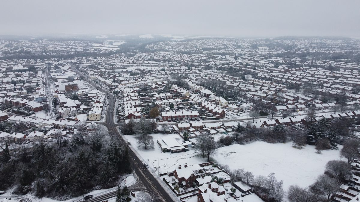 An aerial view of Amblecote, taken by Marty