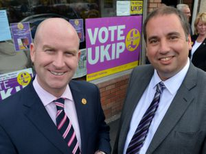 Bill Etheridge, right, could stand to become the next UKIP leader after the resignation of Paul Nuttall, left