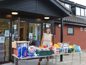 Beverley Momenabadi has been working hard all week to ensure children across Wolverhampton have access to food parcels