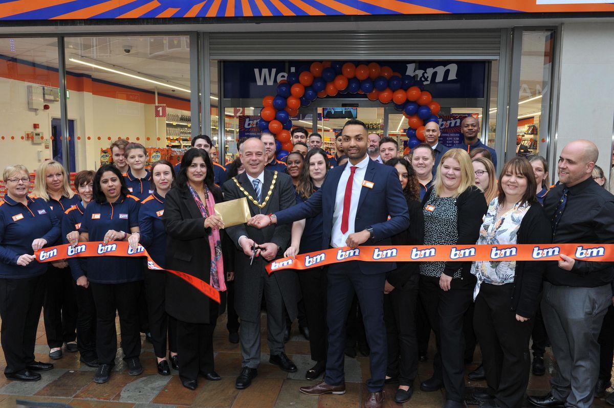 The shop was opened by Greg Brackenridge, the deputy mayor of Wolverhampton