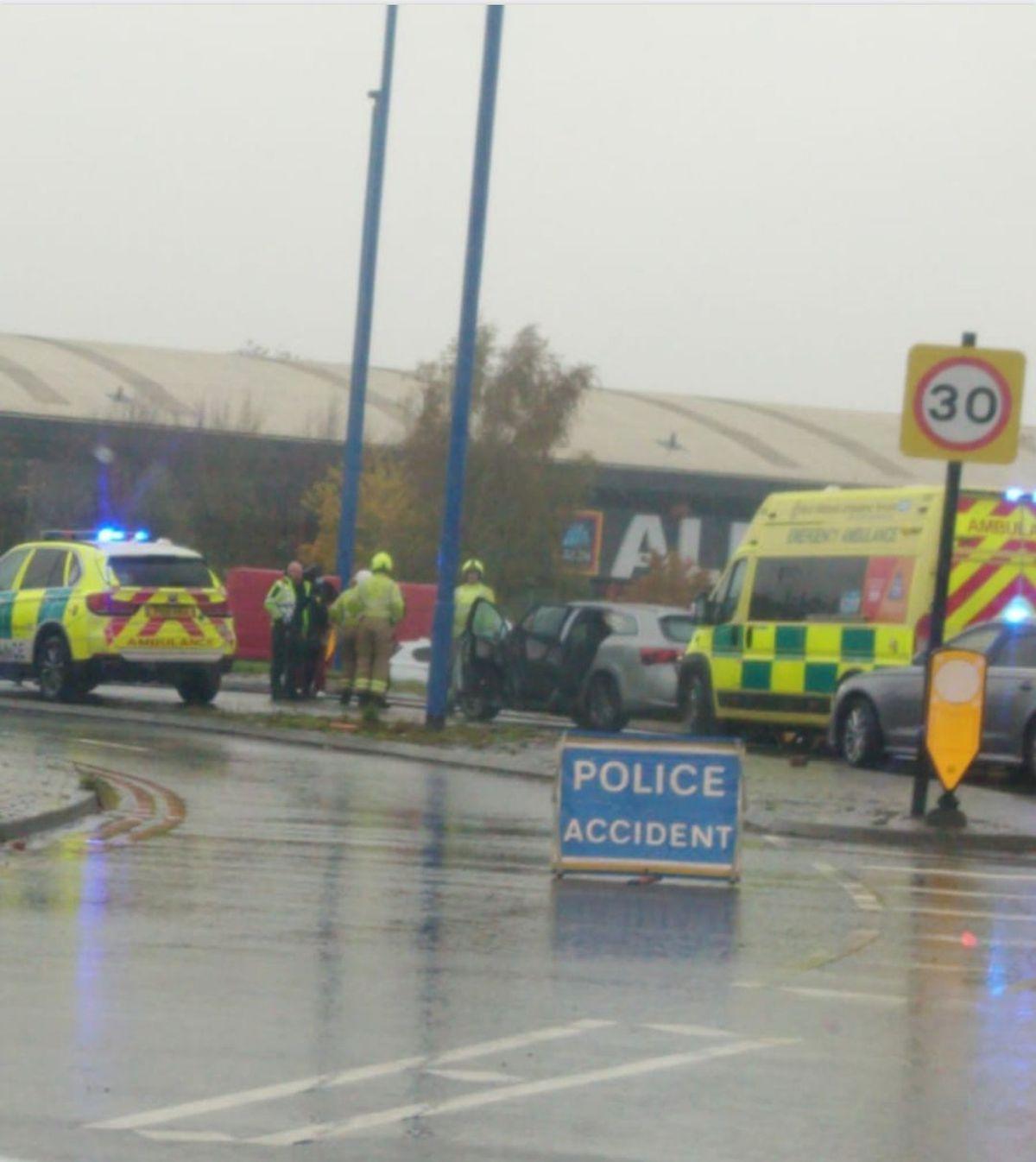 The scene of the crash. Photo: @WilkesSouth