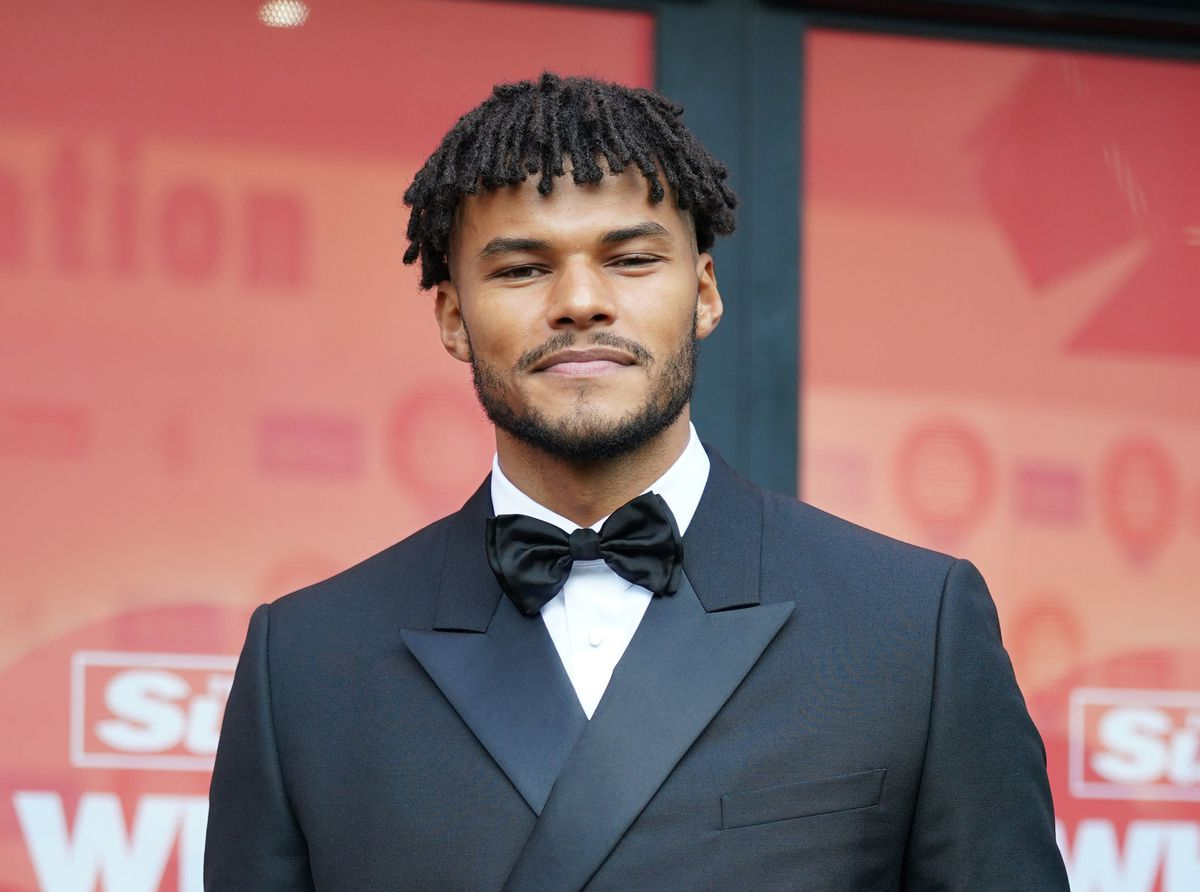 Villa defender Tyrone Mings was among the celebrities at the event
