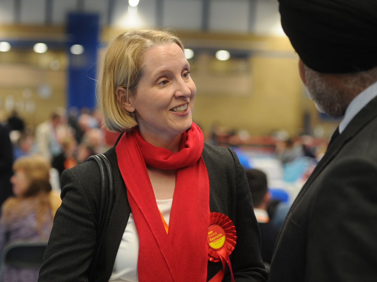 City MP Emma Reynolds at the Wolverhampton count