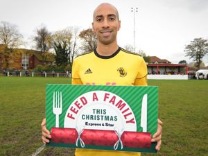 WOLVERHAMPTON PIC MNA PIC DAVID HAMILTON PIC  EXPRESS AND STAR 3/11/2019 Karl Henry supports Feed A Family, at Wednesfield Football Club..