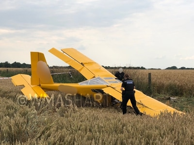 Crew taken to hospital as light aircraft crashes near Cannock