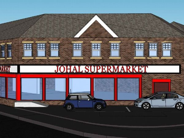 Artist impression of what the new Johal Supermarket and apartments will look like: Photo: Integrated Designs and Associates Ltd