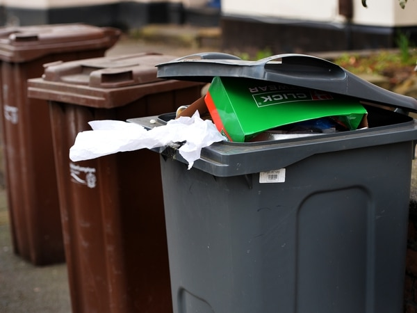 Fortnightly bin collections on the way to Wolverhampton